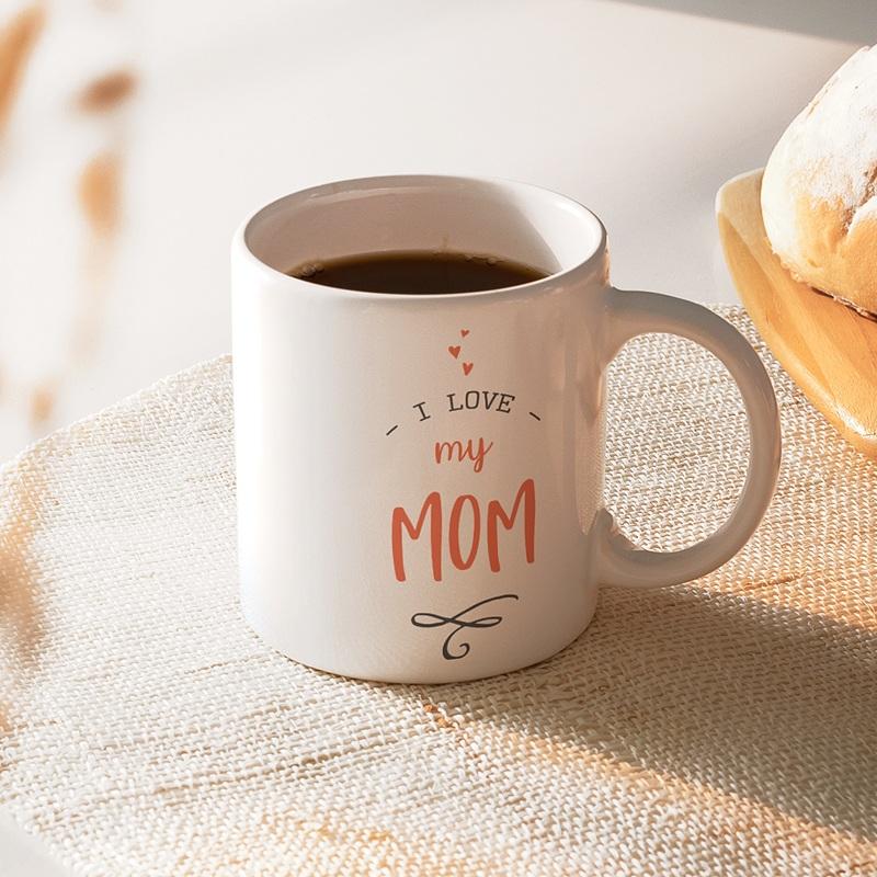 Mug Personnalisé Fête des Mères Love my Mom, 3 Photos