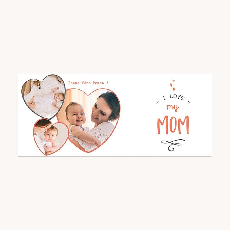 Mug Personnalisé Fête des Mères Love my Mom, 3 Photos pas cher