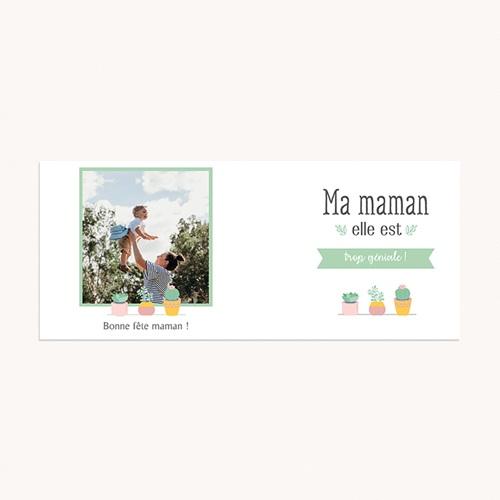 Mug Personnalisé Fête des Mères Maman Géniale, 1 photo, Cactus pas cher