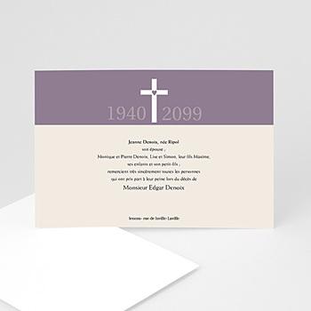 Achat carte remerciement décès chrétien sacré coeur