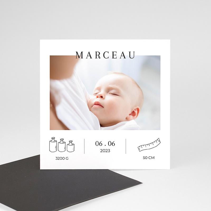 Faire Part naissance garçon photo Balance, Photo, 9 x 9 cm