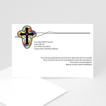Remerciements Décès Chrétien - Croix de lumière - remerciements deces - 3