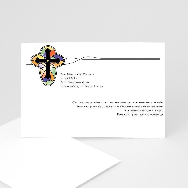 Remerciements Décès Chrétien - Croix de lumière -2 8630 thumb