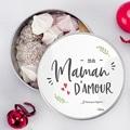Boîte Personnalisée Photo Maman D'amour, 15 cm diam. pas cher