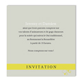 Carte invitation - Gris et Anisé - 217