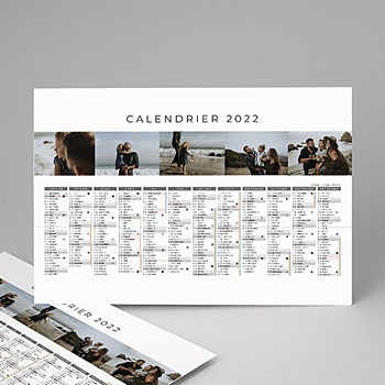 Calendrier Monopage - Calendrier planning multi-photos - 3