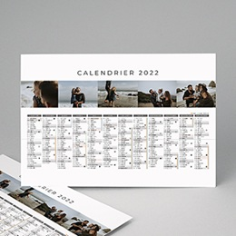 Calendrier Monopage Planning multiphotos