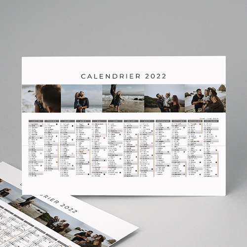 Calendrier Monopage - Planning multiphotos  8642 thumb