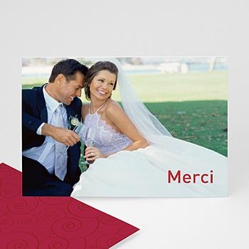 Remerciements mariage personnalisés romantissime personnalisé