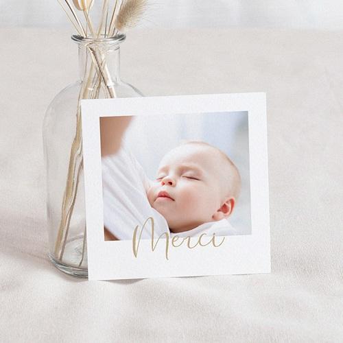 Carte Remerciement Naissance Garçon Baby Boy, Merci, Or