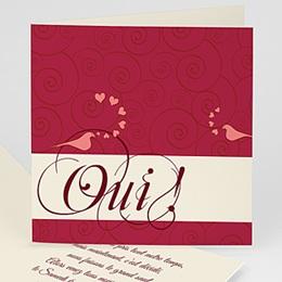 Faire-Part Mariage Personnalisés - Deux colombes pour un Oui ! - 3