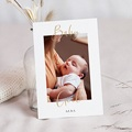 Faire-Part Naissance Fille Carte postale, Baby Girl, Or