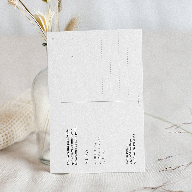 Faire-Part Naissance Fille Carte postale, Baby Girl, Or pas cher