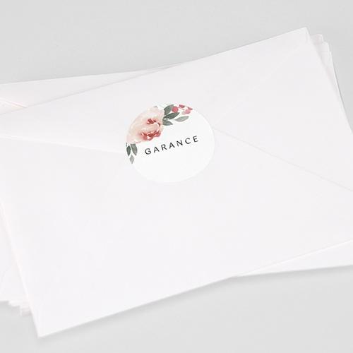 Etiquette Autocollante Naissance Aquarelle Florale, 4,5 cm