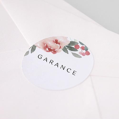 Etiquette Autocollante Naissance Aquarelle Florale, 4,5 cm pas cher
