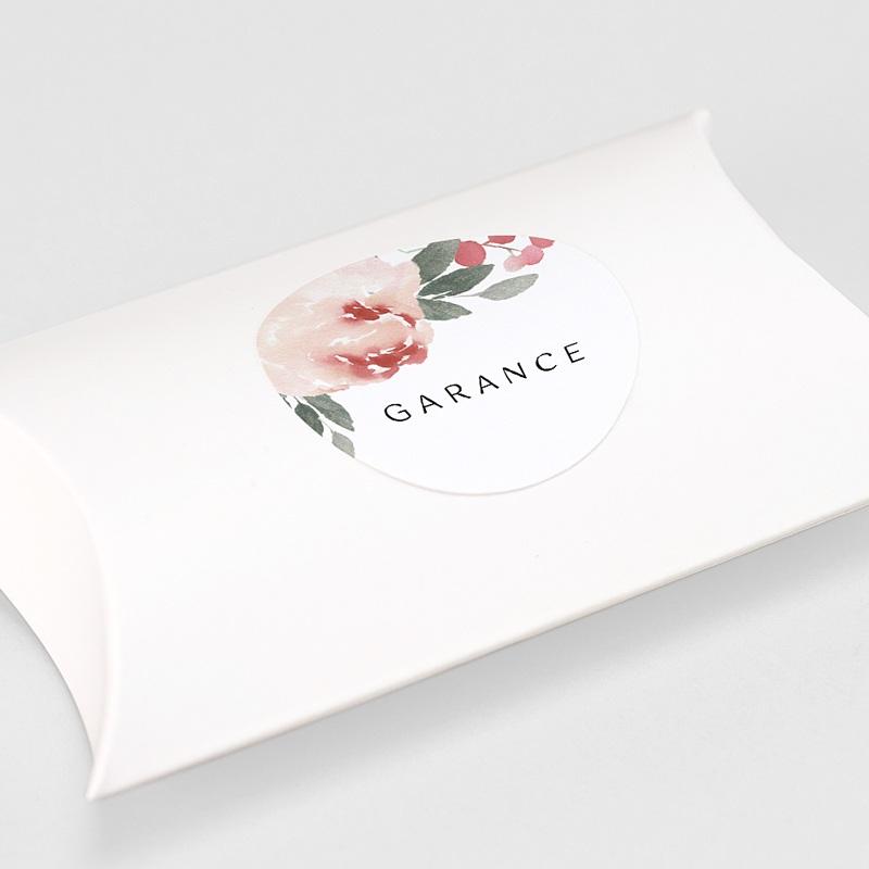 Etiquette Autocollante Naissance Aquarelle Florale, 4,5 cm gratuit