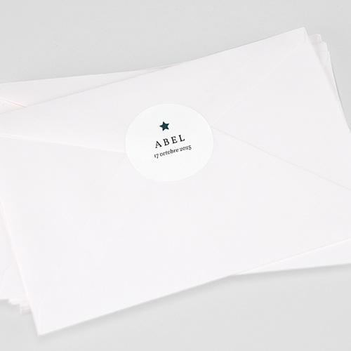 Etiquette Autocollante Naissance Renard des neiges, 4,5 cm
