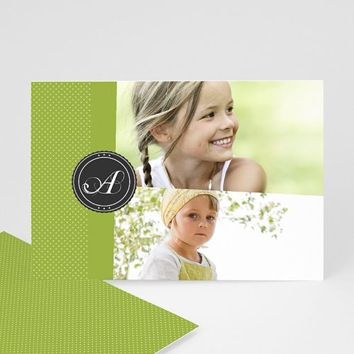 Cartes Multi-Photos 2 photos - Multi photo 2 - Ruban Vert 8672