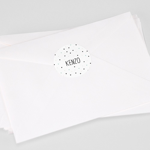 Etiquette Autocollante Naissance Origami Boy, 4,5 cm