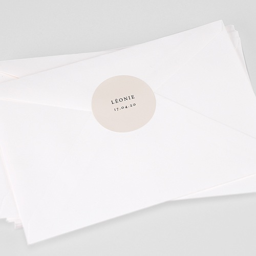 Etiquette Autocollante Naissance Exclusivité, 4,5 cm