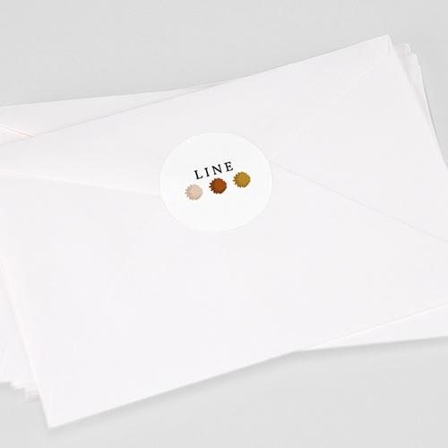 Etiquette Autocollante Naissance Arc en Ciel, 4,5 cm