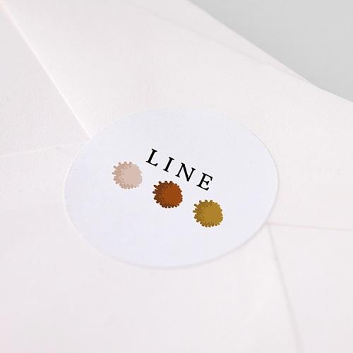 Etiquette Autocollante Naissance Arc en Ciel, 4,5 cm pas cher