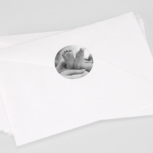 Etiquette Autocollante Naissance Baby Girl, Photo, 4,5 cm