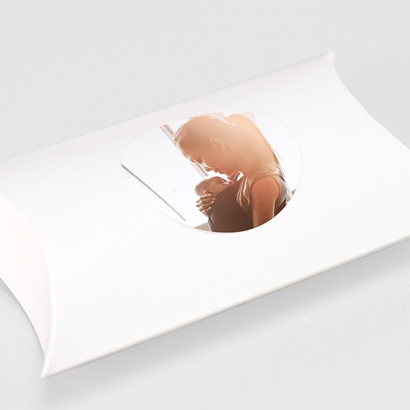 Etiquette Autocollante Naissance Photo Fille, 4,5 cm gratuit