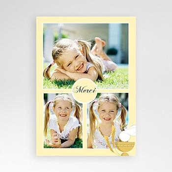 Acheter carte remerciement communion fille communion justine - jaune