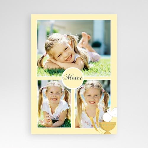 Carte Remerciement Communion Fille Communion justine - jaune