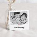 Carte Remerciement Naissance Fille L'étoile Rose, Photo