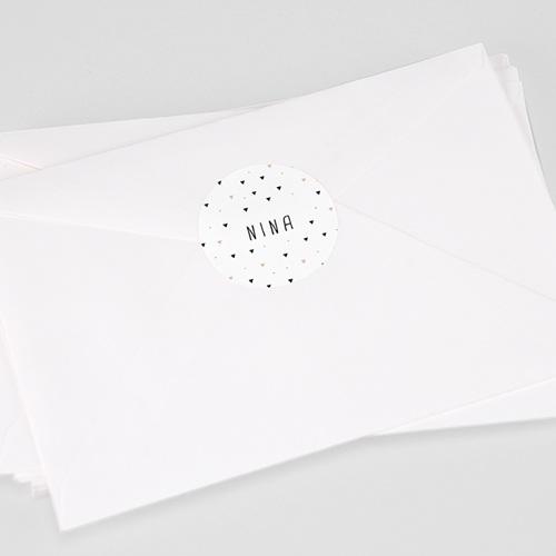 Etiquette Autocollante Naissance Sweet Origami, 4,5 cm