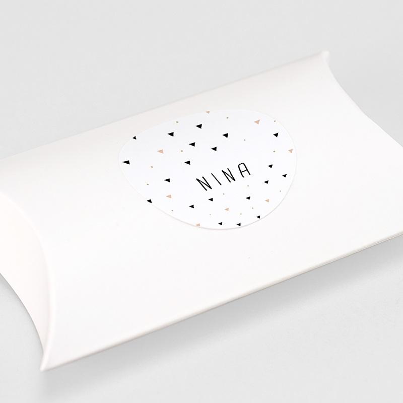 Etiquette Autocollante Naissance Sweet Origami, 4,5 cm gratuit