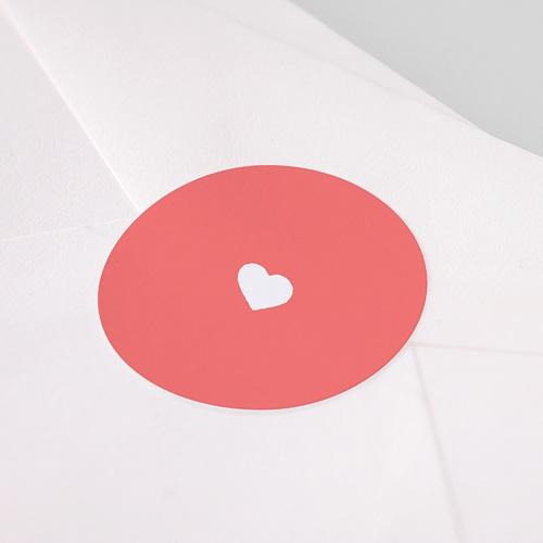 Etiquette Autocollante Naissance Mini-brief, Coeur fond rose pas cher