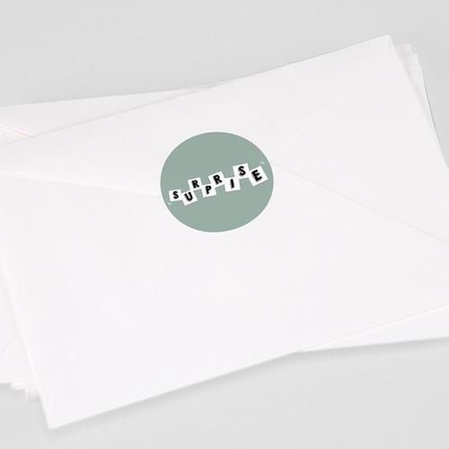 Etiquette Autocollante Naissance Lettres de Bébé, Surprise