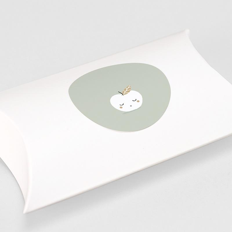 Etiquette Autocollante Naissance Pomme d'or, 4,5 cm gratuit
