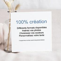 Faire-Part Naissance Fille - 100% CREATION - 14,5 x 15 8716