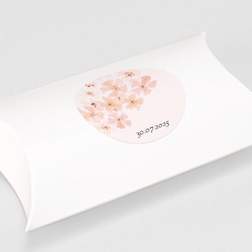 Etiquette Autocollante Naissance Fleurs Aquarelle Pêche, 4,5 cm gratuit