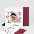 Carte Remerciement Naissance Aquarelle Florale, Pli-décalé