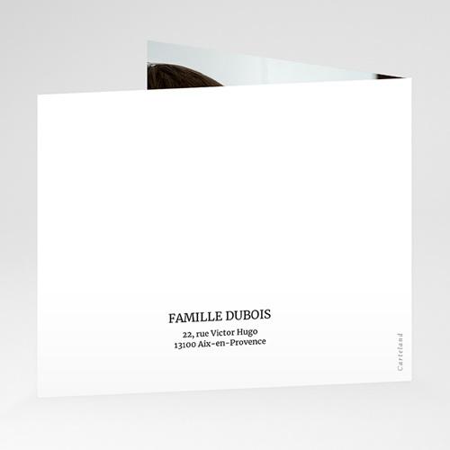 Carte Remerciement Naissance Aquarelle Florale, Pli-décalé gratuit