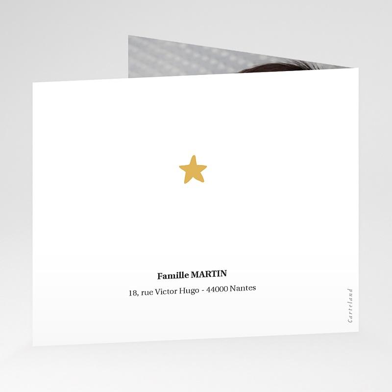Carte Remerciement Naissance Renard des neiges, pli décalé gratuit