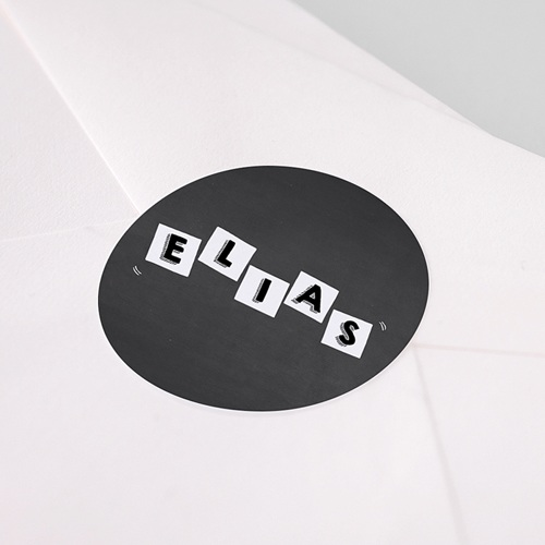 Etiquette Autocollante Naissance Alphabet de Bébé, 4,5 cm pas cher
