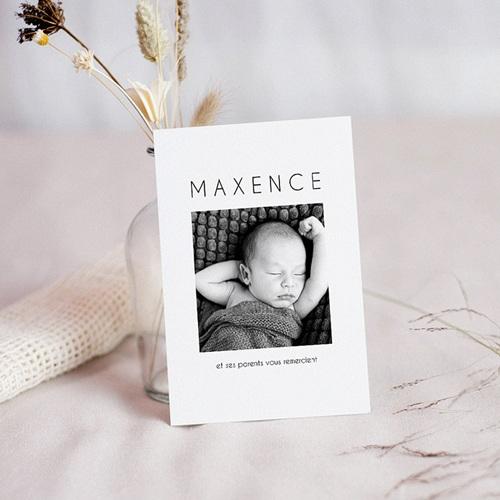 Carte Remerciement Naissance Menthe Douce, Photo