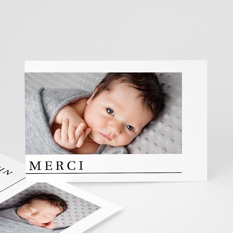 Carte Remerciement Naissance Deux photos, carte postale