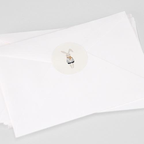 Etiquette Autocollante Naissance Pause Doudou Garçon, 4,5 cm