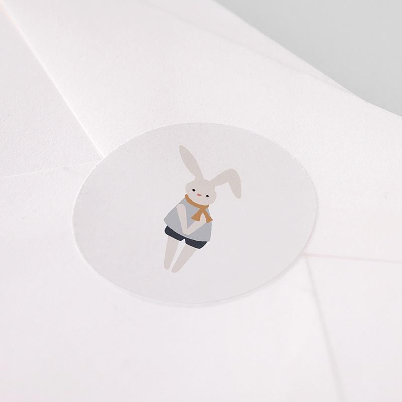 Etiquette Autocollante Naissance Pause Doudou Garçon, 4,5 cm pas cher