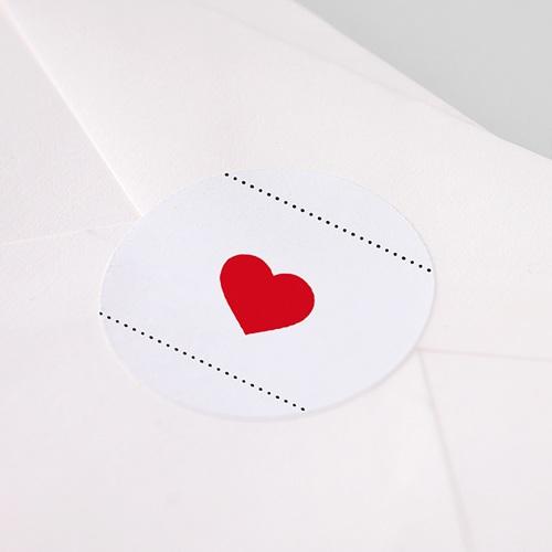 Etiquette Autocollante Naissance Bonheur Magazine, Coeur rouge pas cher