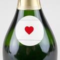 Etiquette Autocollante Naissance Bonheur Magazine, Coeur rouge