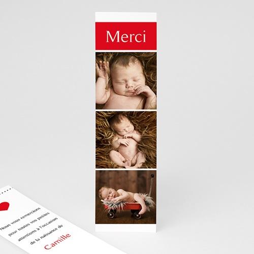 Carte Remerciement Naissance Bonheur Magazine, 3 Photos