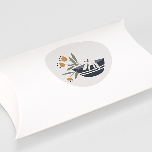 Etiquette Autocollante Naissance Panier du Bonheur, 4,5 cm gratuit